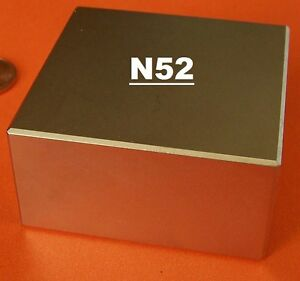 Block 2x2x1 Inch Super Strong N52 High Quality Rare Earth Neo Magnet Neodymium