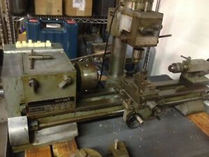 Maximat 7 Lathe mill Combo With Turret Attachment Quick Change Chuck