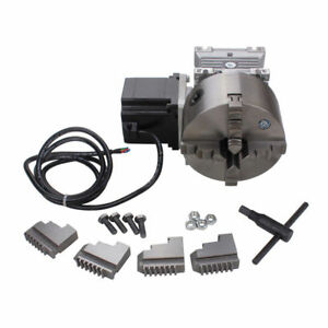 Cnc Gearbox Router Rotary A 4th Axis 4 Jaw 130mm Chuck 20 1 Engraving Machine