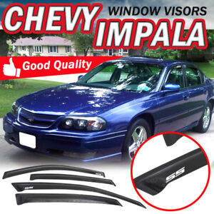 Fit 00 05 Chevy Impala Sedan Slim Smoke Window Visors Guard Deflector Vent Shade