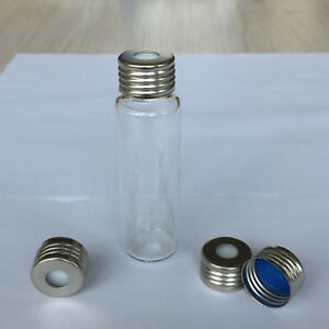 100 pack Of 20 Ml Clear Glass Storage Cosmetic Vial Container W Screw Caps New