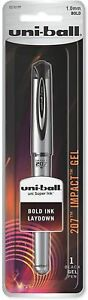 Sanford Uni ball 207 Impact Retractable Gel Pen Bold Point Black 1 Ea 8 Pack