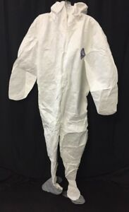 New Lot Of 20 Dupont Tyvek Coveralls W hood Boots Small