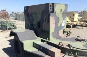 2010 Mep 804b 15kw Generator Yanmar Turbo Diesel 113 Hours 1 3 Phase Military