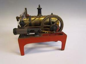 Antique Signed Weeden Cast Iron Brass Steam Engine