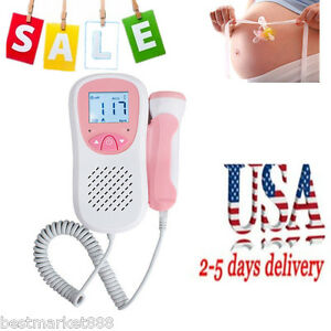Usa 3mhz Probe Lcd Baby Heart Rate Monitor Fetal Doppler For Test Pregnant Mom