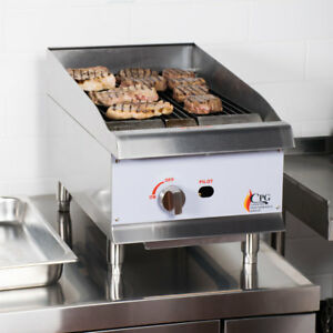 15 Gas Lava Rock Commercial Restaurant Kitchen Countertop Charbroiler