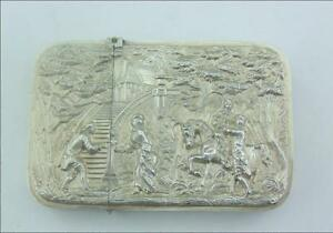 Victorian Solid Silver Raised Relief Card Case
