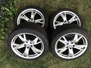 Set Of 4 19 Nissan 370z Rays Engineering Forged Factory Oem Wheels Rims 370 Z