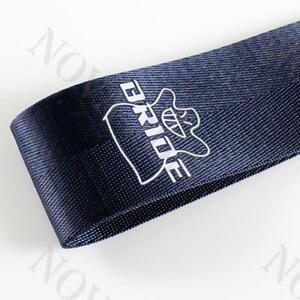 Jdm Bride High Strength Blue Race Tow Towing Strap Front Rear Bumper For Car New