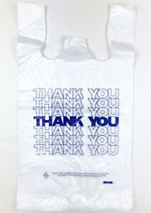 Plastic T shirt Bag Large 12 X 6 X 21 Thank You Grocery Store Shopping Carry 500