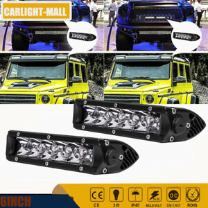 2x30w Spot Led Work Light Bar 6 Slim Driving Fog Lamp Offroad Lights Vat Utv