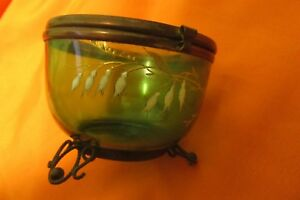 Old Box Jewelry Legras Glass Pot Enameled Period Napoleon Iii 19th Century Candy