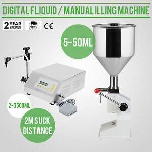 Digital Liquid Manual Filling Machine Filler Pvc Plastic Control Automatic