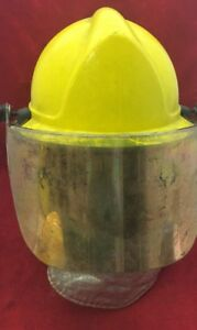 Morning Pride Fire Fighter Helmet Turnout Gear Yellow W shroud Visor Unit 5