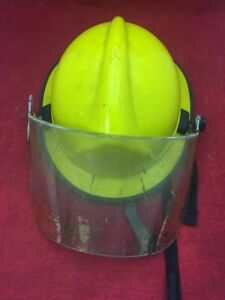Morning Pride Fire Fighter Adjustable Helmet Turnout Gear Yellow W visor Type 2