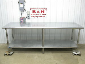 96 X 30 Stainless Steel Heavy Duty Kitchen Work Table W Under Shelf 8