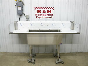 John Boos 72 X 24 Stainless Steel Heavy Duty 3 Bowl Sink 6 X 2 Never Used