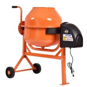 New 63 Liter Electric Concrete Cement Mixer Barrow Machine Mortar 2 1 5 Cubic Ft