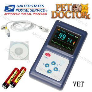Fda Portable Veterinary Pulse Oximeter Spo2 Vet Probe Oled alarm battery Usa