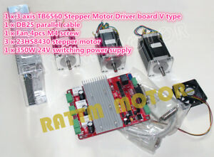 Cnc Kit Nema23 270oz in Stepper Motor 3 Axis Driver Board 350w 24v Power Supply