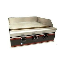 Gas Griddle Counter 24 Top 2 Burner Nsf
