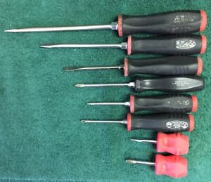 I Snap On 8 Pc Instinct Soft Grip Combination Screwdriver Set