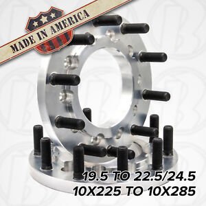 10 Lug 10x225 To 10x285 19 5 To 22 5 24 5 Semi Wheel Adapters 1