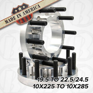 10 Lug Dually 10x225 To 10x285 19 5 To 22 5 24 5 Semi Wheel Adapters 1 5