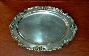 Tray Oval King Francis 1676 By Reed Barton 19 Silverplate Medium Meat Platter