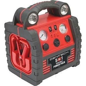 5in1 Portable Power Pack Jump Starter With Air Compressor Inverter Powerful
