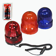 Revolving 3 In 1 Security Emergency Light With Magnet Red Amber Blue