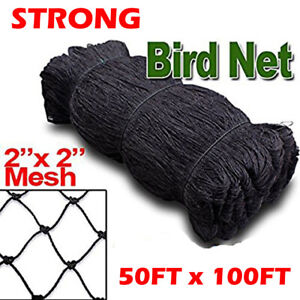New 50ftx100ft Bird Net Netting For Bird Poultry Avaiary Game Pens 2 Hole