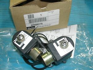 Parker 520000115 Electric Solenoid Valve 4 way 2 Position 120 Vac 60 Hz New F3