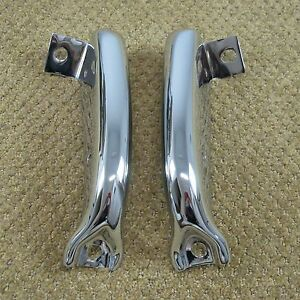 1961 Chevy Impala Belair Biscayne Re chromed Rear Center Plate Bumper Guards 61