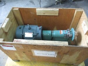 Tri clover Sp216 Mh s Stainless Pump W Reliance 5hp Motor 1023856j Used