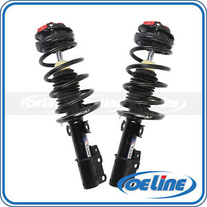 2x Quick Complete Front Strut Coil Springs W Mounts For 03 07 Saturn Ion 2 2l
