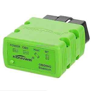 Konnwei Wireless Bluetooth Obdii Obd2 Car Diagnostic Scanner For Android