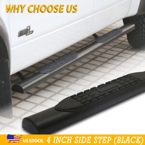 Fit 01 16 Chevy Silverado Crew Cab 4 Side Step Running Board Nerf Bar Black A