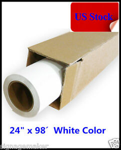 Usa 24 X 98 Roll White Color Printable Heat Transfer Vinyl For T shirt Fabric