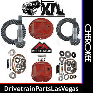 Jeep Cherokee Xj Re Gear Set Package Ring Pinions Master Kits Hd Covers 4 56