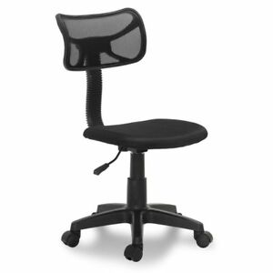 Drafting Chair Swivel Stool Office Seating Height Adjustable Seat Black Fabric