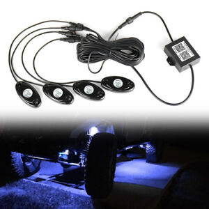 4x Rgb Led Rock Light Wireless Remote Controller Offroad Under Wheel Music Lamp