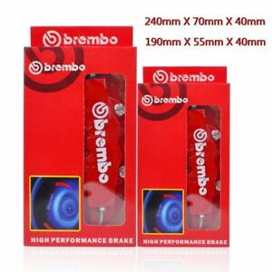 3d Red Brembo Style Car Universal Disc Brake Caliper Covers Front