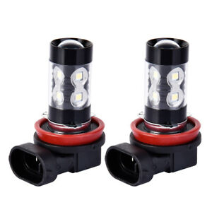 2x H11 H9 H8 200w Led 3000k Warm Cree Projector Fog Driving Light Bulbs Drl