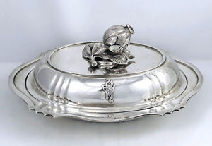 Schofield Baltimore Sterling Covered Vegetable Dish 48 Oz