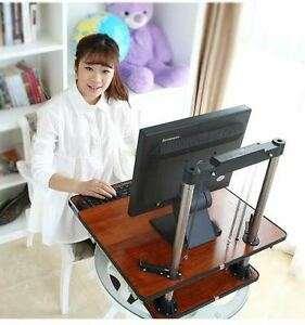 Adjustable Height Table Top Sit stand Desk Riser For Monitor laptop work Station