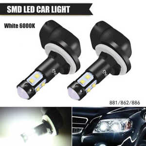 2x 100w Cree Led Fog Driving Lights Bulb 881 862 886 889 894 896 898 Cool White