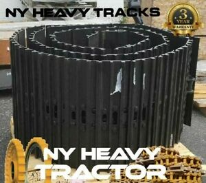 Track Groups 43 Link Chains W 20 Triple Bar Pads X2 Fits Cat 312 Caterpillar