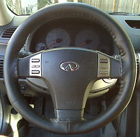 Charcoal Grey Custom Fit Leather Steering Wheel Cover Wheelskins Size Axx